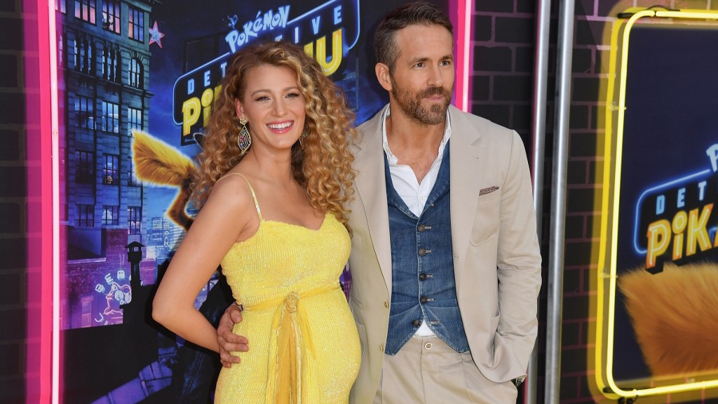 EXPECTING. Blake Lively shows off her baby bump as she attends the premiere of 'Pokemon Detective Pikachu' with husband Ryan Reynolds in New York City. Photo by Angela Weiss / AFP