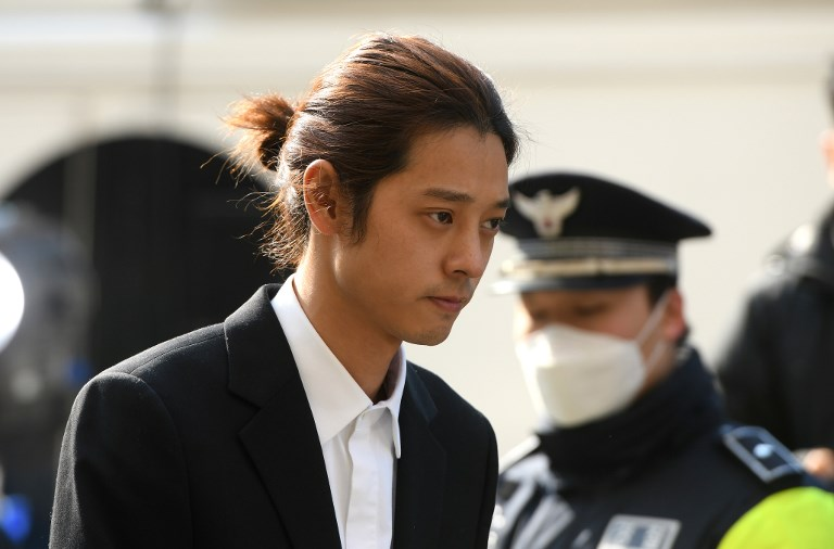 ARREST WARRANT. Photo show K-pop star Jung Joon-young arriving for questioning at the Seoul Metropolitan Police Agency in Seoul on March 14, 2019. Police announce they are seeking an arrest warrant against the singer. Photo by Jung Yeon-Je / AFP
