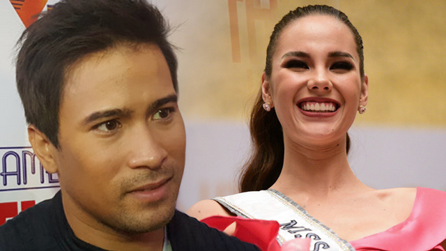 NO MALICE. Cornerstone Entertainment president Erickson Raymundo says no need to put any meaning in the photos of Catriona Gray and Sam Milby that were posted on social media and which went viral. File photos by Alecs Ongcal/Alexa Villano/Rappler