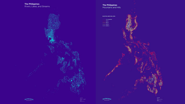 MAP-MAKING. Filipino geographer and cartographer shows the 'circulatory' and 'skeletal' map of the Philippine archipelago. Created by David Garcia