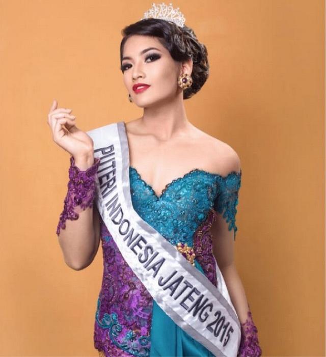 Finalis asal Jawa Tengah Anindya Kusuma Putri terpilih jadi Puteri Indonesia 2015. Foto Facebook Anindya Kusuma Putri