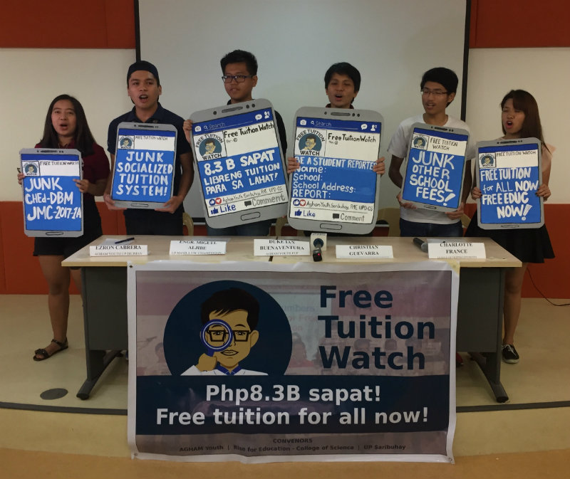 REPORT. Students may report any kind of feedback about the implementation of the Free Tuition Policy through the Free Tuition Watch. Photo by Marian Plaza/Rappler