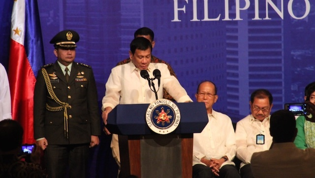 THANK YOU, CHINA. President Rodrigo Duterte thanks China for its generosity. Photo by Rappler