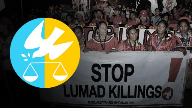 STOP. Lumad protest killings at the Manilakbayan ng Mindanao 2015.