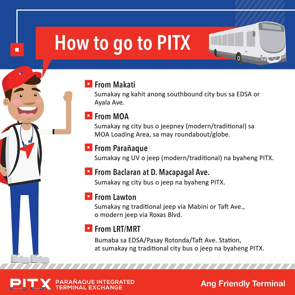 LIST: Available routes at Paranaque Integrated Terminal Exchange