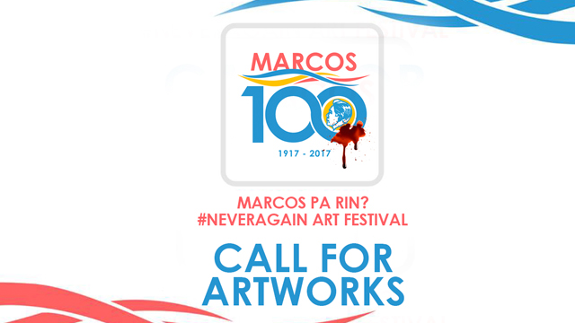 NEVER FORGET. Molotov Pilipinas calls out artists from all over the country to post creative works to remember the Marcos atrocities. Photo courtesy of Molotov Pilipinas