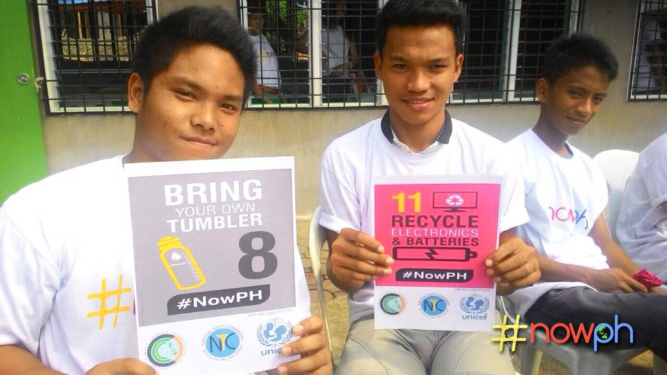 Aurora youth pledge to take steps in curbing the effects of climate change. Photo from #NowPH Facebook page