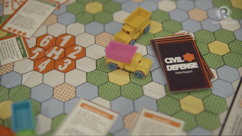 LEARN AND PLAY. The Civil Defense board game aims to teach the youth the concepts on disaster preparedness