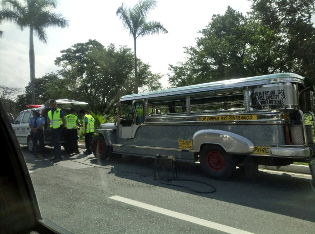 JEEPNEY PHASEOUT. The latest target of DOTr's 'Oplan Alis Bulok, Alis Usok' program are jeepneys in the University of the Philippines - Diliman. Photo courtesy of Pat Jasmin