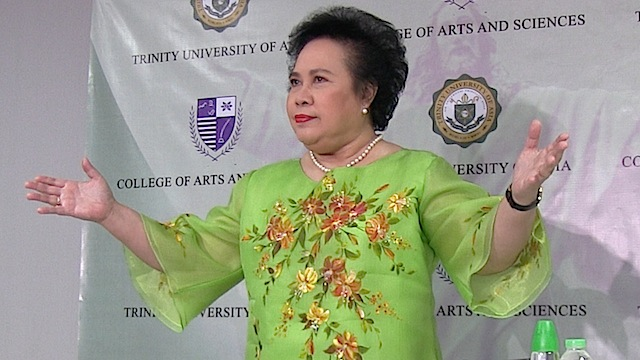 SENATE APPROVAL NECESSARY: Senator Miriam Santiago maintains that EDCA is a treaty that needs Senate ratification. Rappler file photo