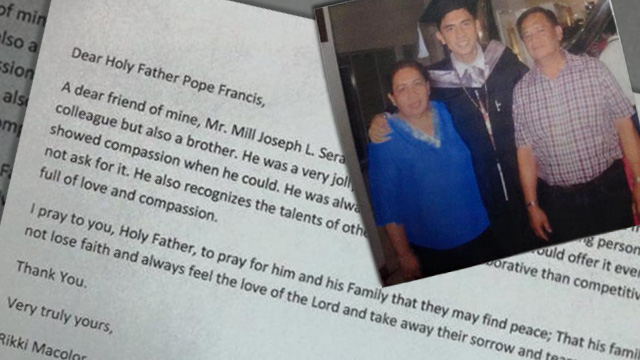 Pope Francis receives letter to pray for grieving Filipino family