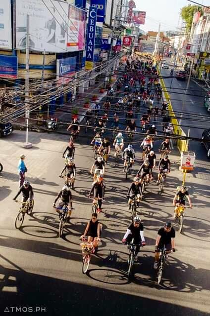 NO TO OUTDATED LAWS. Cyclists in Iloilo City join a protest. Photo by Eric Barbosa Jr.