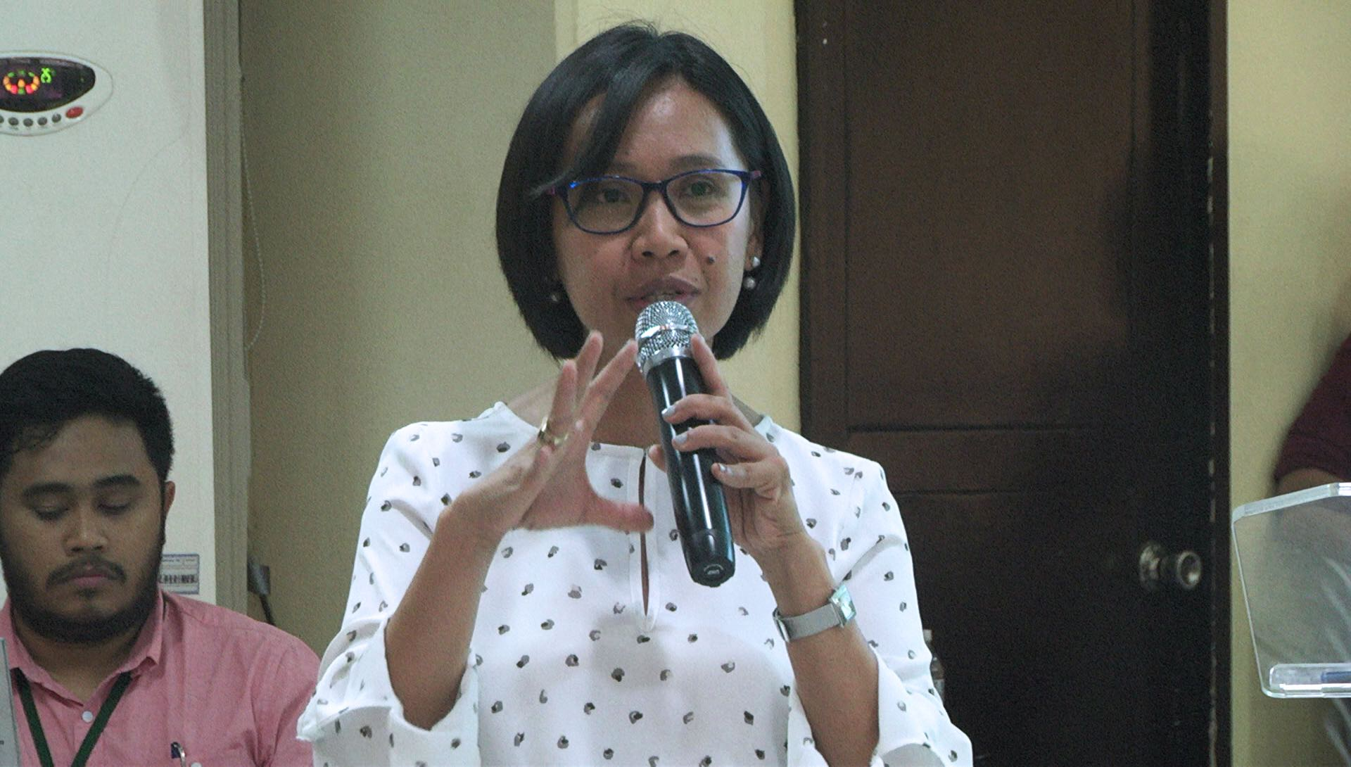 Director Ronilda Co of the DepEd Disaster Risk Reduction and Management Services Office