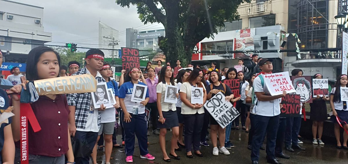 NAGA PROTEST. Students from Ateneo de Naga University join the nationwide protest on the 46th anniversary of the declaration of Martial Law. Photo by Abegail Kyla Bilan/Rappler
