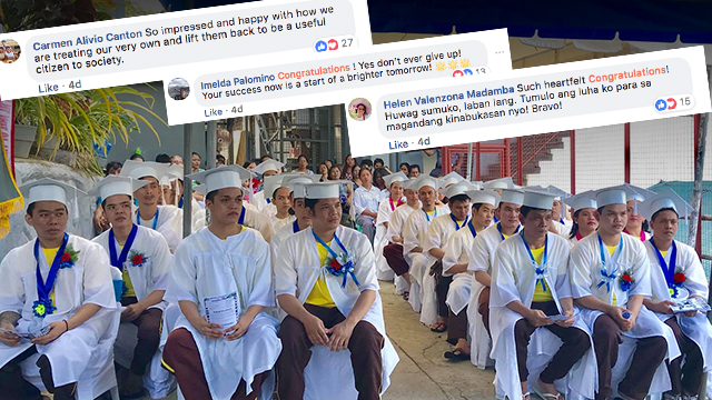 GRADUATES. Inmates from the municipality of Consolacion in Cebu graduates from the education department's Alternative Learning System on August 20. Photo from Councilor Joannes Alegado