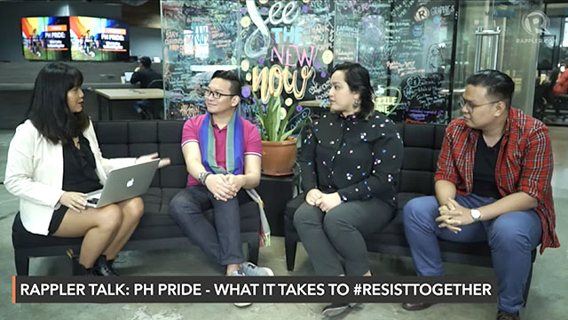 During a Rappler Talk interview on June 21, LGBTQ+ advocates Ryan Silverio of the ASEAN SOGIE Caucus, Nikki Castillo of Metro Manila Pride, and Eljay Bernardo of Rainbow Rights PH discuss the pressing issues hounding the LGBTQ+ community today.
