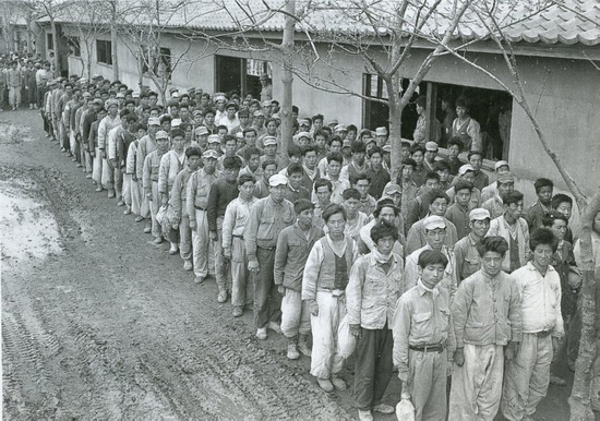 DOOMED DRAFTEES: Fears that men such as these would be drafted into the North Korean Army forced South Korea to Draft them first as part of the National Defense Corps. File Photo from Wikimedia Commons.