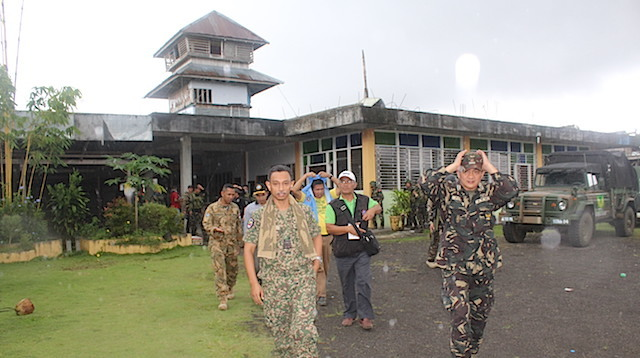 PEACE MECHANISM. Peace monitors were sent Butig after complaints that military offensive has gotten too close to MILF areas. Photo from the military