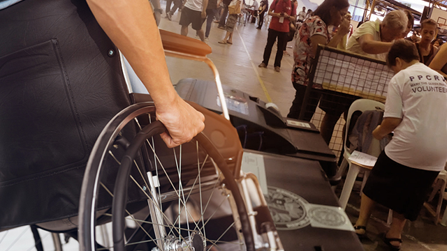 PWD photo by Shutterstock. Election photo by Alecs Ongcal/Rappler