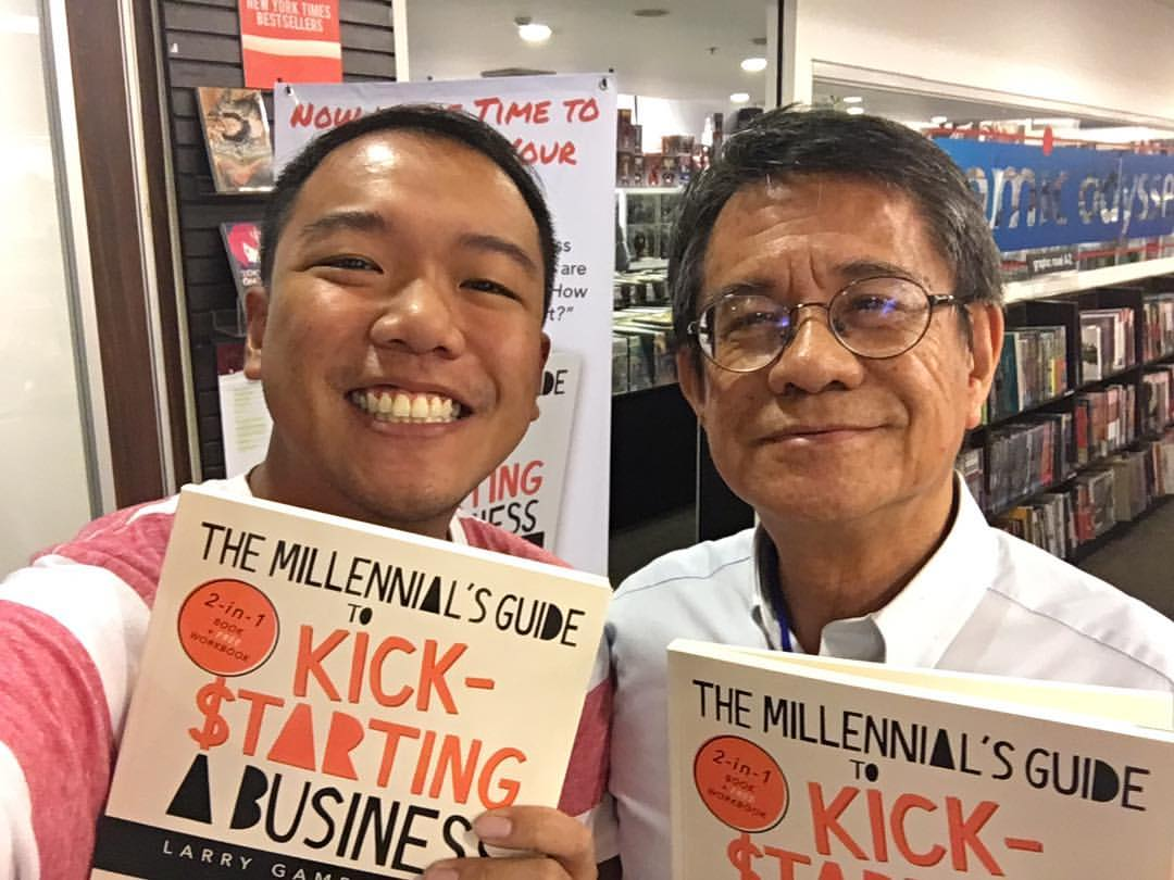 SPARKING IDEAS. Crowdfunding allows the publication of Larry Gamboa's 'The Millennial's Guide To Kick-starting A Business'