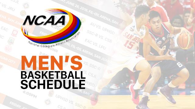 NCAA Season 92 men's basketball schedule