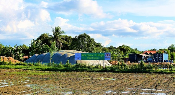 GLIMPSE. The country's first rice straw biogas facility is set to formally open in Victoria, Laguna on June 26, 2019. Photo from Straw Innovations Ltd