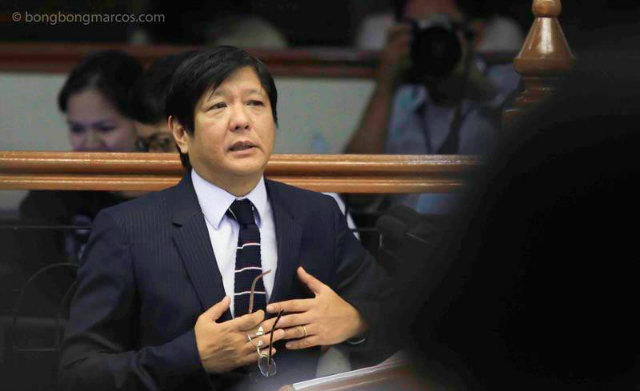 CONTROVERSIAL STATEMENT. Senator Ferdinand 'Bongbong' Marcos issued a controversial statement asking what he is to apologize for over his father's presidency during martial law. Photo courtesy: bongbongmarcos.com