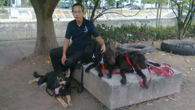 RESILIENCE. Ramon Santiago with integral members of the MMDA K-9 Search and Rescue Unit at the Napindan facility. Photo from Mon Santiago.