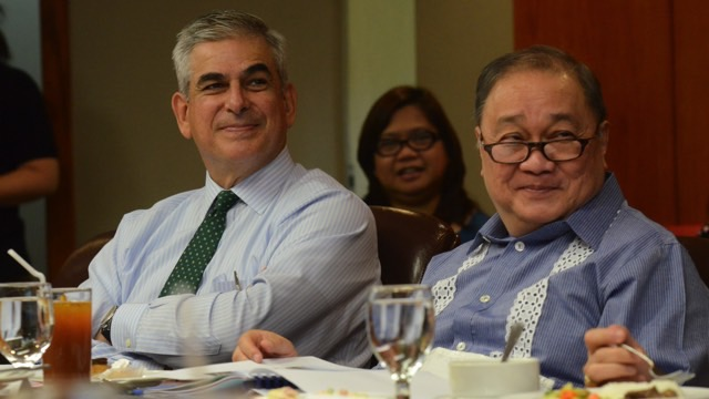TEAMWORK. Business rivals Jaime Zobel de Ayala and Manny Pangilinan sit as co-chairs of the PDRF Board. Photo credit PDRF