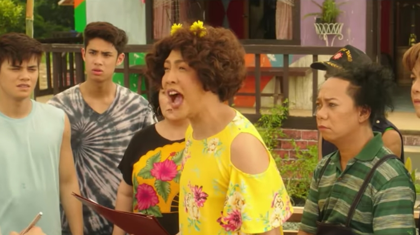JOLLY BUT JUVENILE. The usual Vice Ganda jokes and gags entertain at first, but lose their freshness towards the end. Screenshot from ABS-CBN Star Cinema's Youtube account