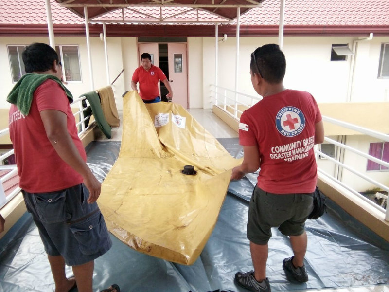 RELIEF EFFORTS. Philippine Red Cross deploys a humanitarian caravan to respond to the needs of the communities affected by Urduja. Photo by PRC