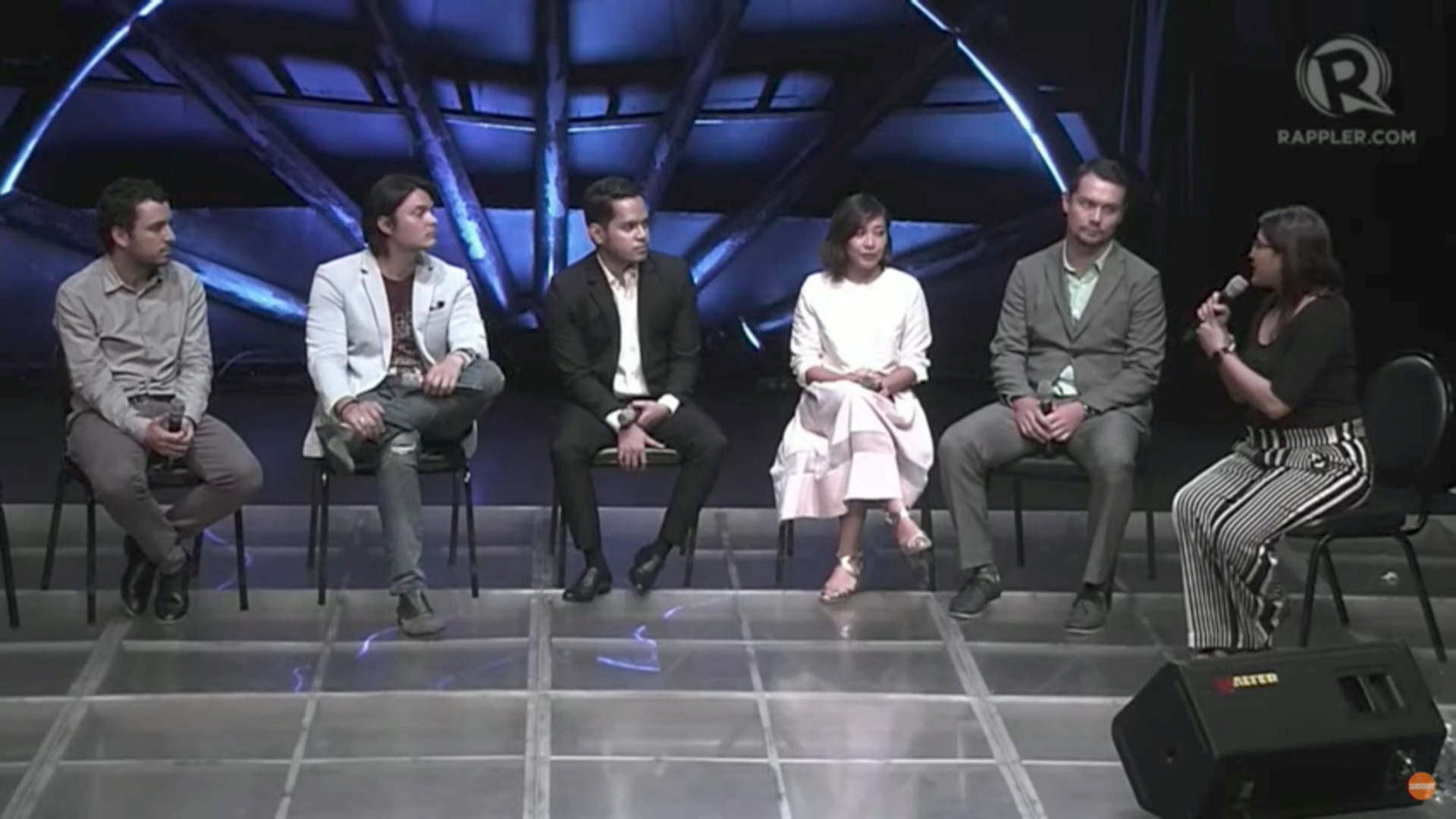 AWARENESS. Panelists of the Agos Summit on Disaster Preparedness talk about harnessing pop culture and social media to raise awareness on disaster risk reduction and climate action. Screenshot from Rappler