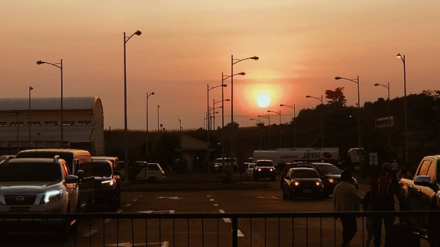 SUNRISE. Haze seen over the horizon by the Laguindingan Airport in Misamis Oriental. Photo contributed by Thysz Estrada