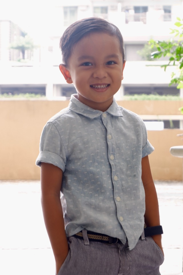 DAPPER GENT. It's a challenge getting Anton to pose for a photo because he is hyperactive. Photo by Nonie Tobias-Azores