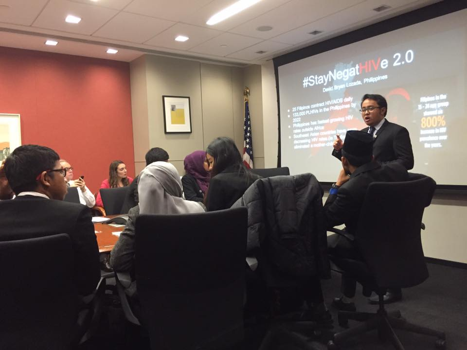 #StayNegatHIVe. The author shares the impact of the #StayNegatHIVe campaign during his YSEALI fellowship in the US. Photo courtesy of the University of Nebraska at Omaha