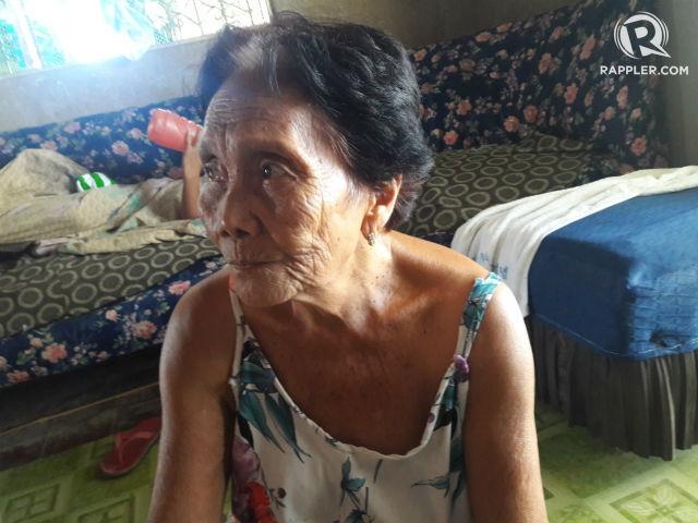 PENSION. Lorita Alarde hopes president-elect Rodrigo Duterte will prioritize increasing pensions for senior citizens like her.