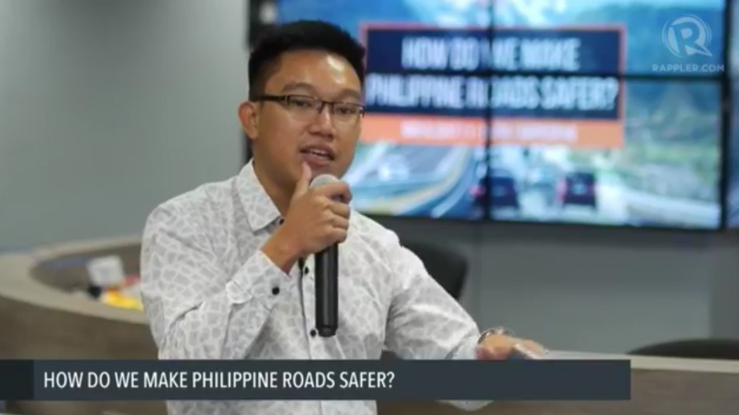SURVIVOR. Einstein Rojas of New Vois Association Philippines talks about road safety.