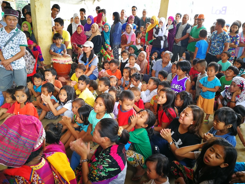 ONE COMMUNITY. The community, composed mostly of refugees from the Marawi Siege, gathers within the multi-purpose hall. They occasionally come together during social outreach programs and similar activities for recreational and rehabilitation purposes.