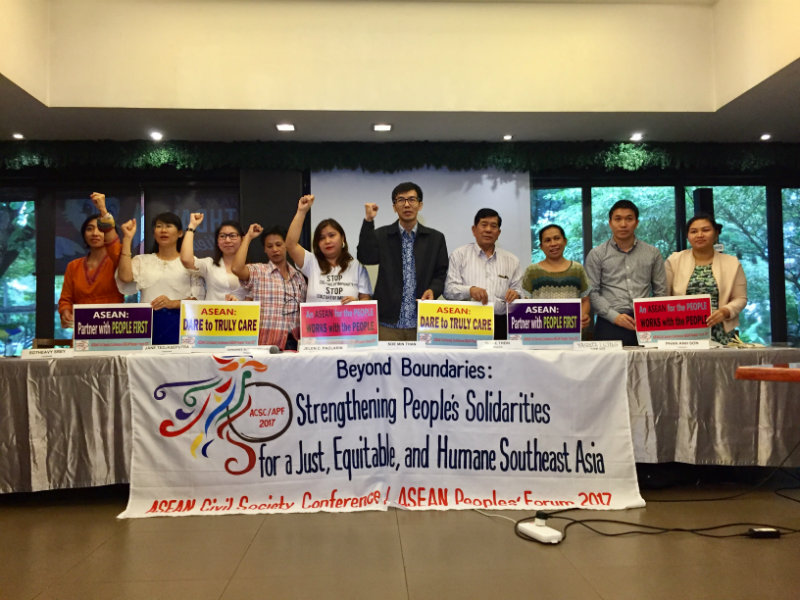 CIVIL SOCIETY. ASEAN civil society groups promise to highlight human rights during the parallel gathering at the ASEAN Civil Society Conference on November 11 to November 14. Photo by Raisa Serafica/Rappler