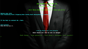 HACKED. This screenshot shows the defaced website of a police unit.