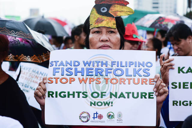 NATURE HAS RIGHTS. The groups call for the recognition and passage of 'Rights of Nature Law' on July 22, 2019. Photo by Kale Luaton, PMPI