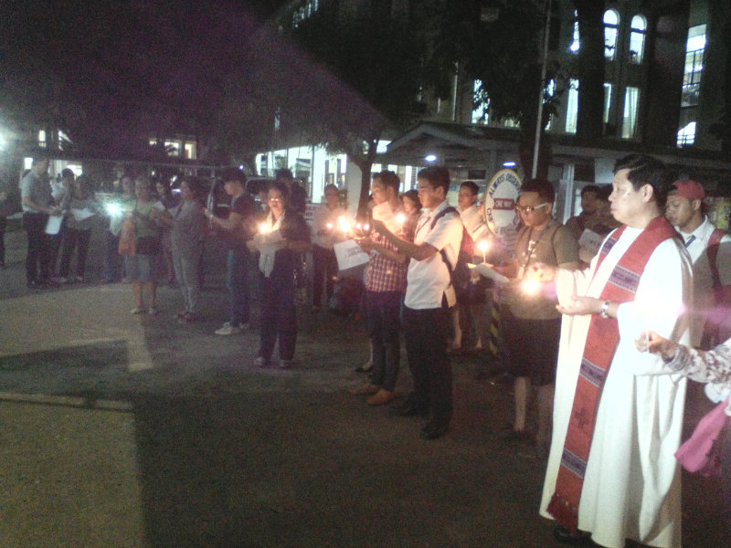 CAGAYAN DE ORO. Students and groups in Xavier University honor Martial Law victims and those who fought against the Marcos dictatorship. Photo by Angelo Lorenzo
