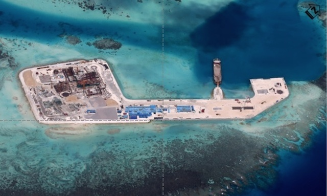 NEW ISLAND. Reclamation in Keenan (Chigua) Reef as of December 2014