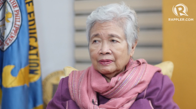 DEPED EFFORTS. Education Secretary Leonor Briones says rehabilitation efforts continue for schools affected by Typhoon Nina (Nock-ten).