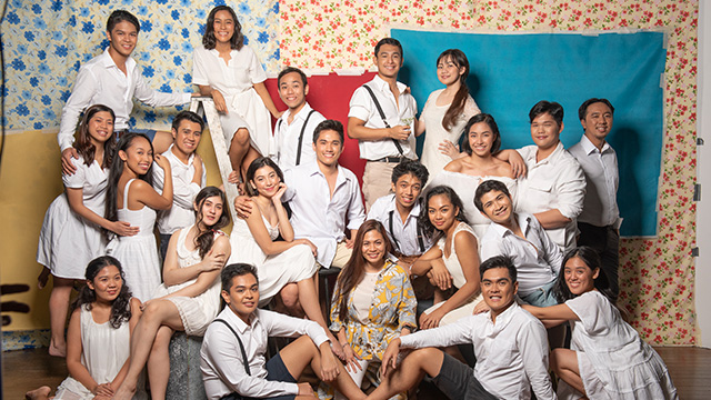 LOOK: Cast of Spring Awakening together with director Missy Maramara. Photo by Ateneo blueRep