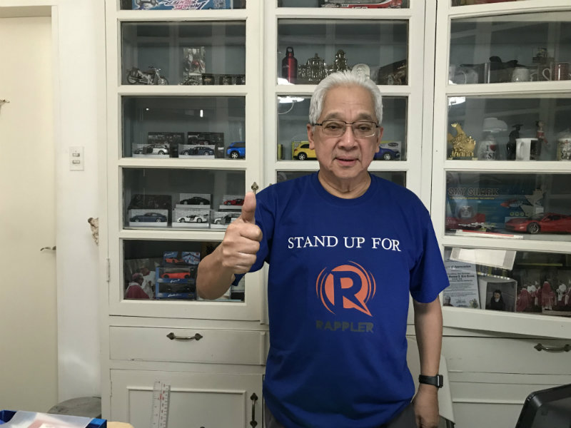 PRESS FREEDOM SUPPORTER. Caritas Philippines National Director Archbishop Rolando J. Tria Tirona, OCD proudly wears a statement shirt supporting Rappler and press freedom. Photo courtesy of Caritas Philippines