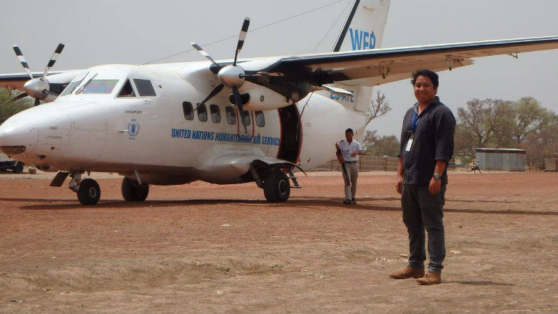 CHALLENGES. Giano Libot is a Filipino aid worker who was based in South Sudan. Photo from Giano Libot