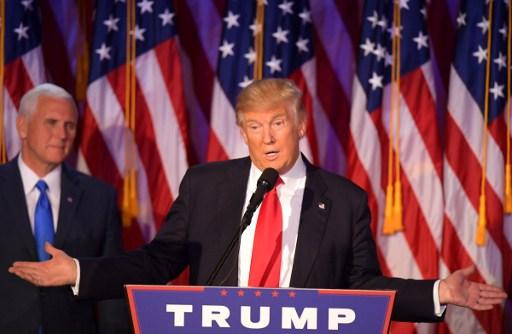US PRESIDENT. Donald Trump wins over Democrat Hillary Clinton. AFP file photo