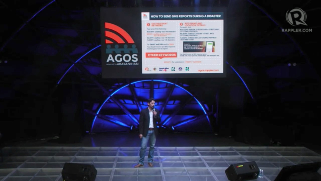 AGOS. Move.PH Executive Director Rupert Ambil II talks about the Agos eBayanihan platform during the Agos Summit on Disaster Preparedness. Screenshot from Rappler