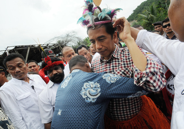 Presiden Joko 'Jokowi' Widodo mengunjungi Papua saat kampanye pilpres pada Juni 2014. Foto oleh EPA